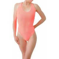 Gl Neon Coral Criss Cross Body Suit Small